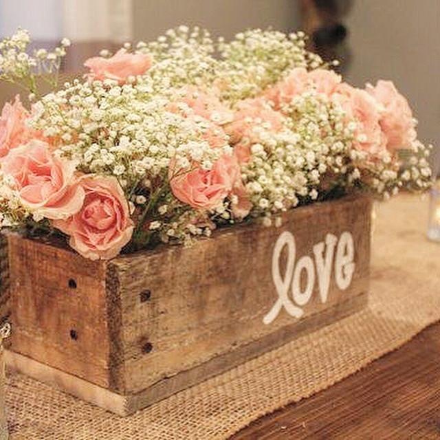 image of pink baby shower flower arrangement