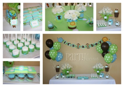 pics photos safari baby shower decorations for a boy