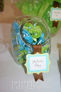 image of jungle baby shower favors