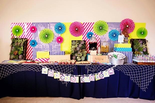 sailboat baby shower table scape picture