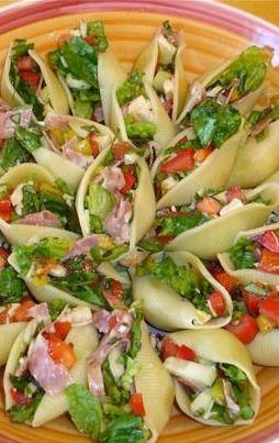 salad in pasta shells recipe