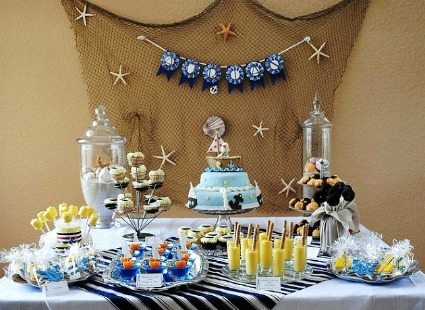 baby shower boat theme image