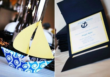 picture of a nautical sailboat baby shower theme