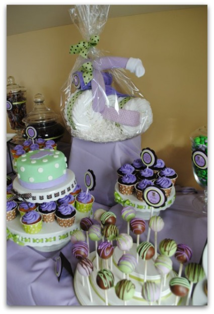 Purple And Green Baby Room