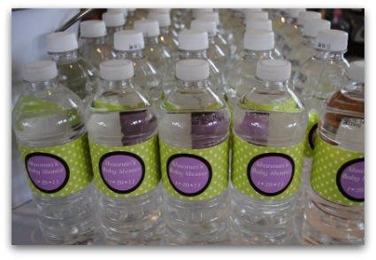 picture of baby shower water bottle labels for a sip n see theme