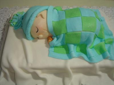 picture of a sleeping baby cake