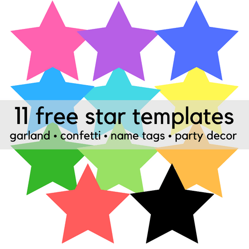 Free printable star templates for party decor