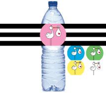 stork water bottle labels