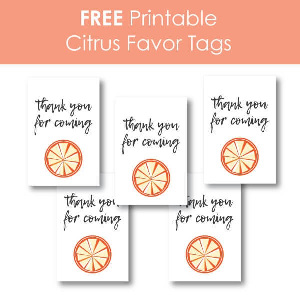 Free printable citrus favor tags