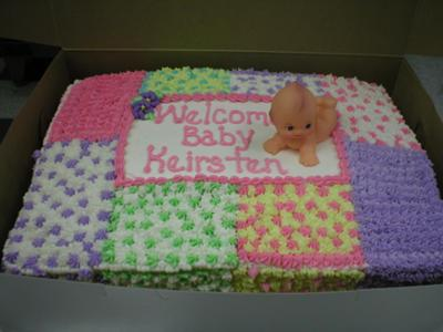 Quilt Baby Shower Cakes