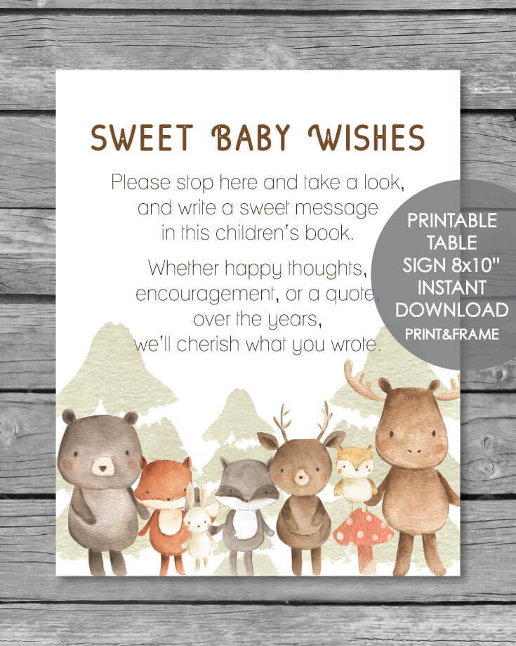 graphic about Free Printable Woodland Baby Shower Invitations identified as 25+ Woodland Youngster Shower Topic Designs (Decorations, Online games