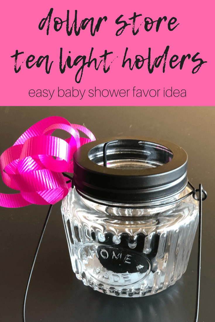 Candle tea light holder for baby shower favors! $1 favor idea!