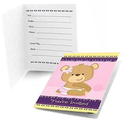 image of teddy bear baby shower invitation ideas