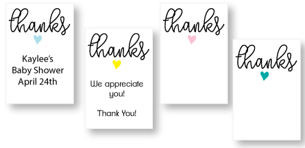 printable baby shower thank you tags picture