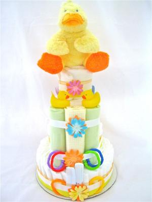 The Rubber Ducky Diaper Cake