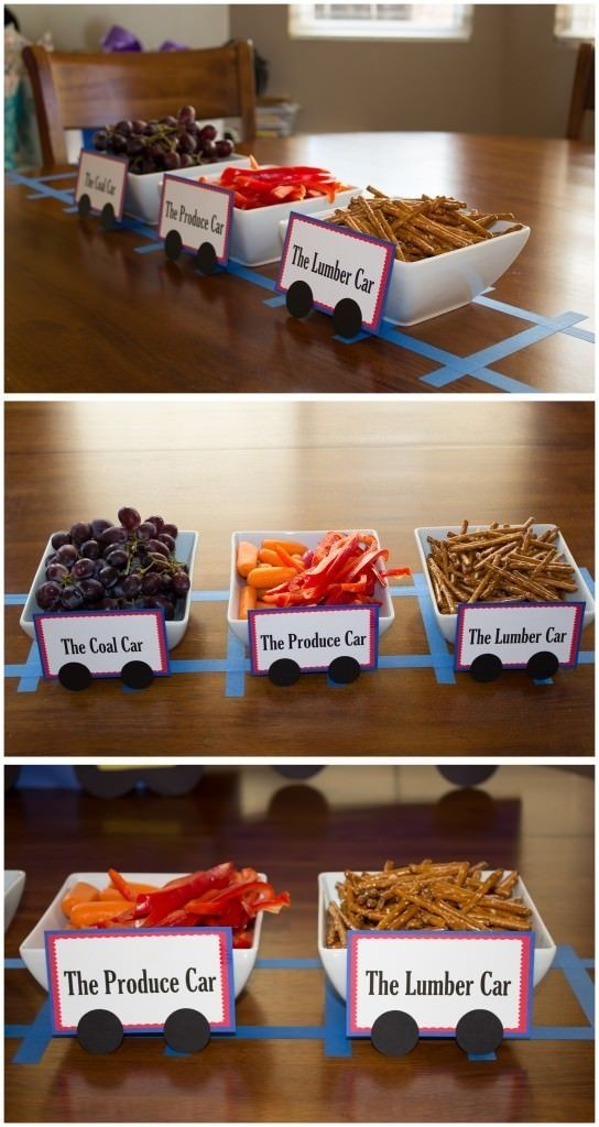 picture of train baby shower food ideas