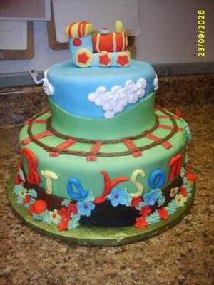 train baby shower cake picture