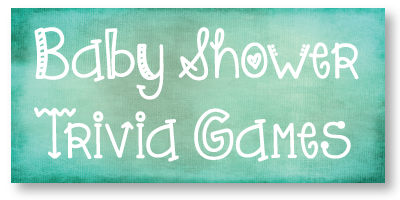 baby shower trivia games banner