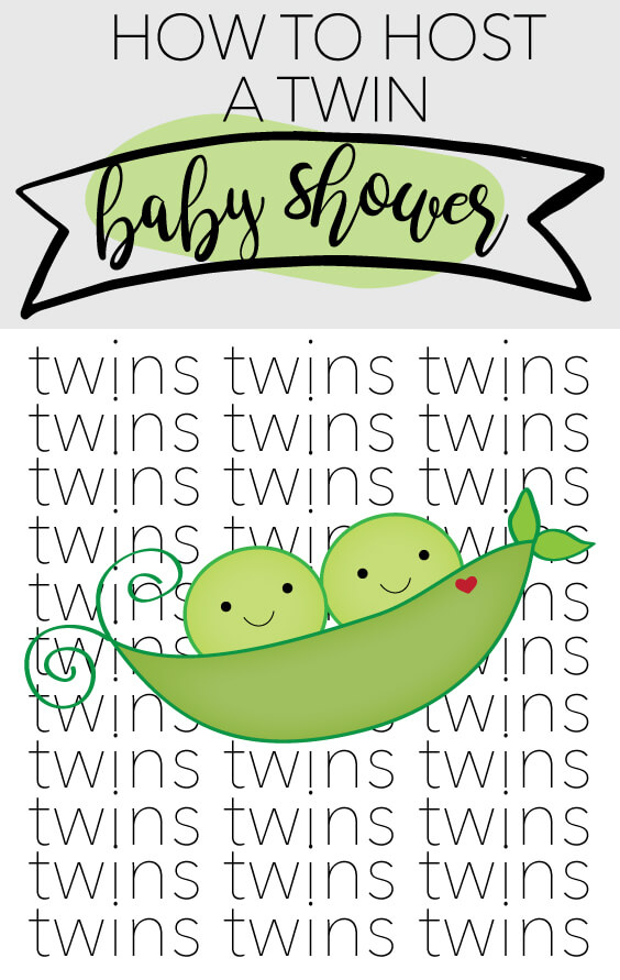 how to host a twin baby shower banner