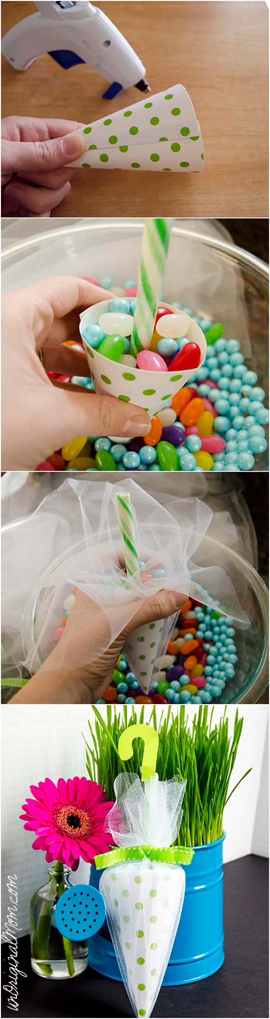 picture of DIY umbrella favors