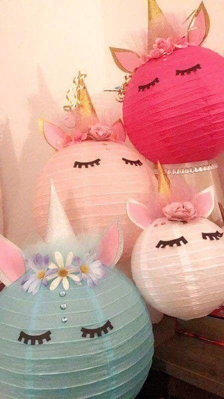 unicorn lantern party decor