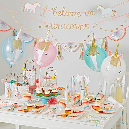 magical unicorn party ideas banner