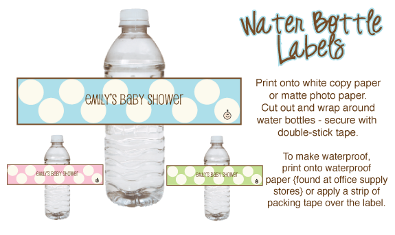 baby shower water bottle labels template free