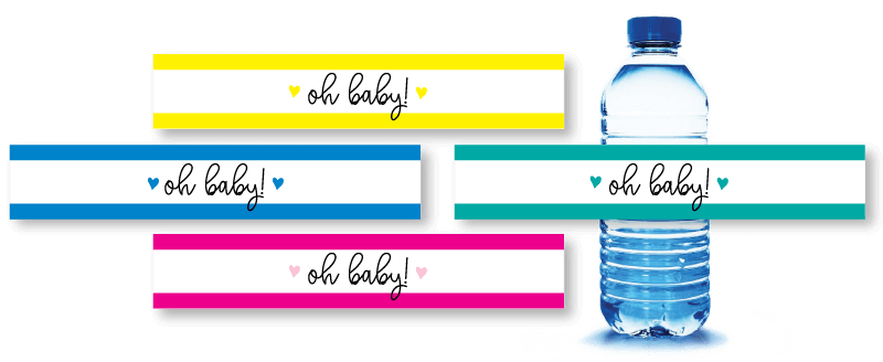 printable baby shower water bottle labels picture