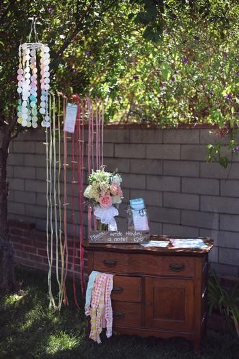 Picture of watercolor baby shower tablescape