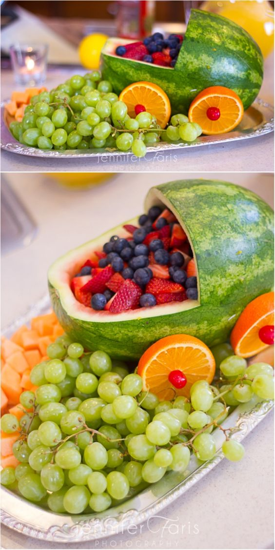 image of baby shower fruit tray ideas
