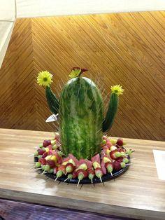 picture of watermelon cactus fruit platter