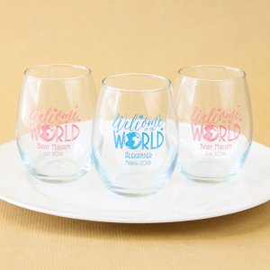 Image of Welcome To The World Baby Shower Glasses