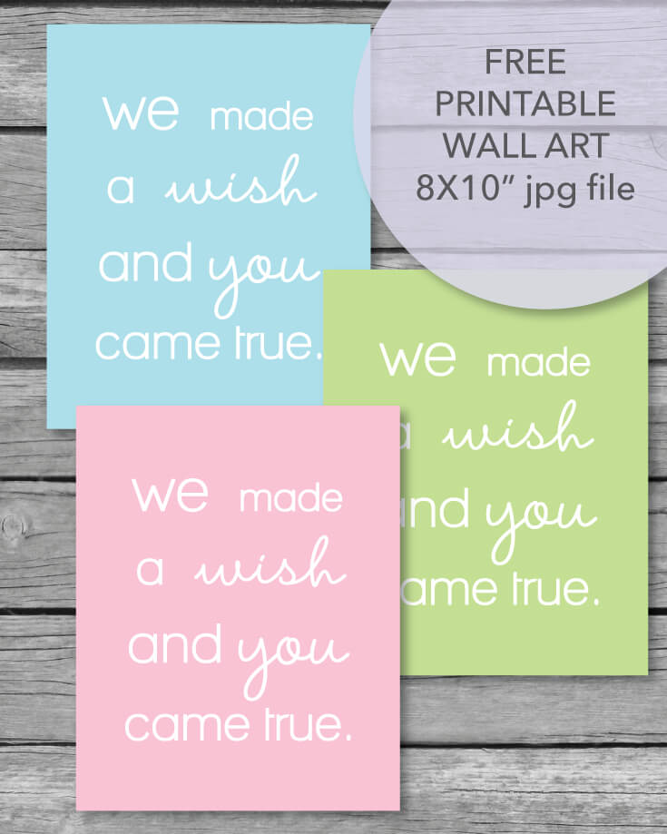 FREE Printable Baby Nursery Or Baby Shower Wall Art