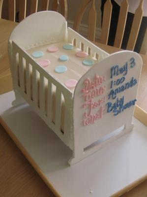 picture of a White Polka Dot Crib Cake
