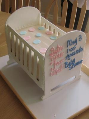 picture of a White Polka Dot Crib Cake