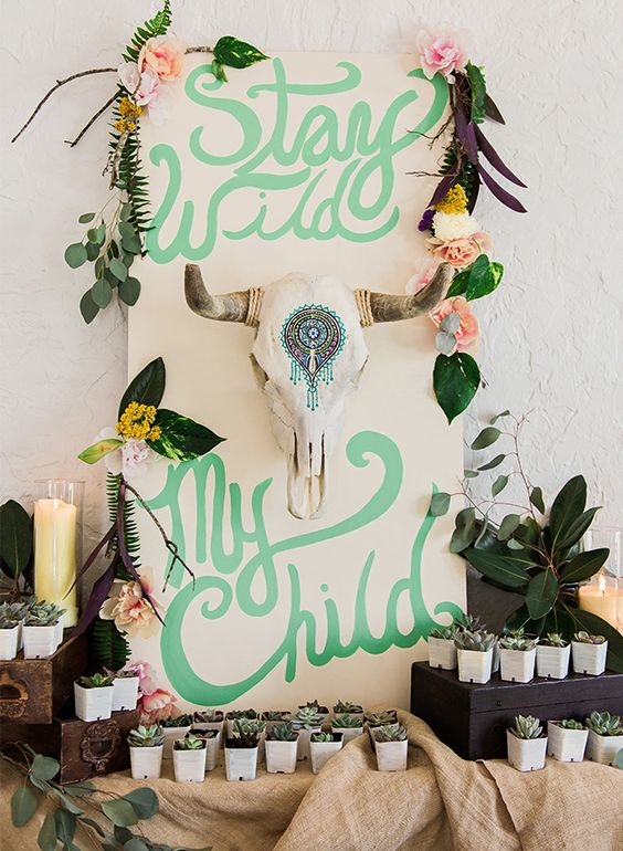stay wild my child backdrop picture