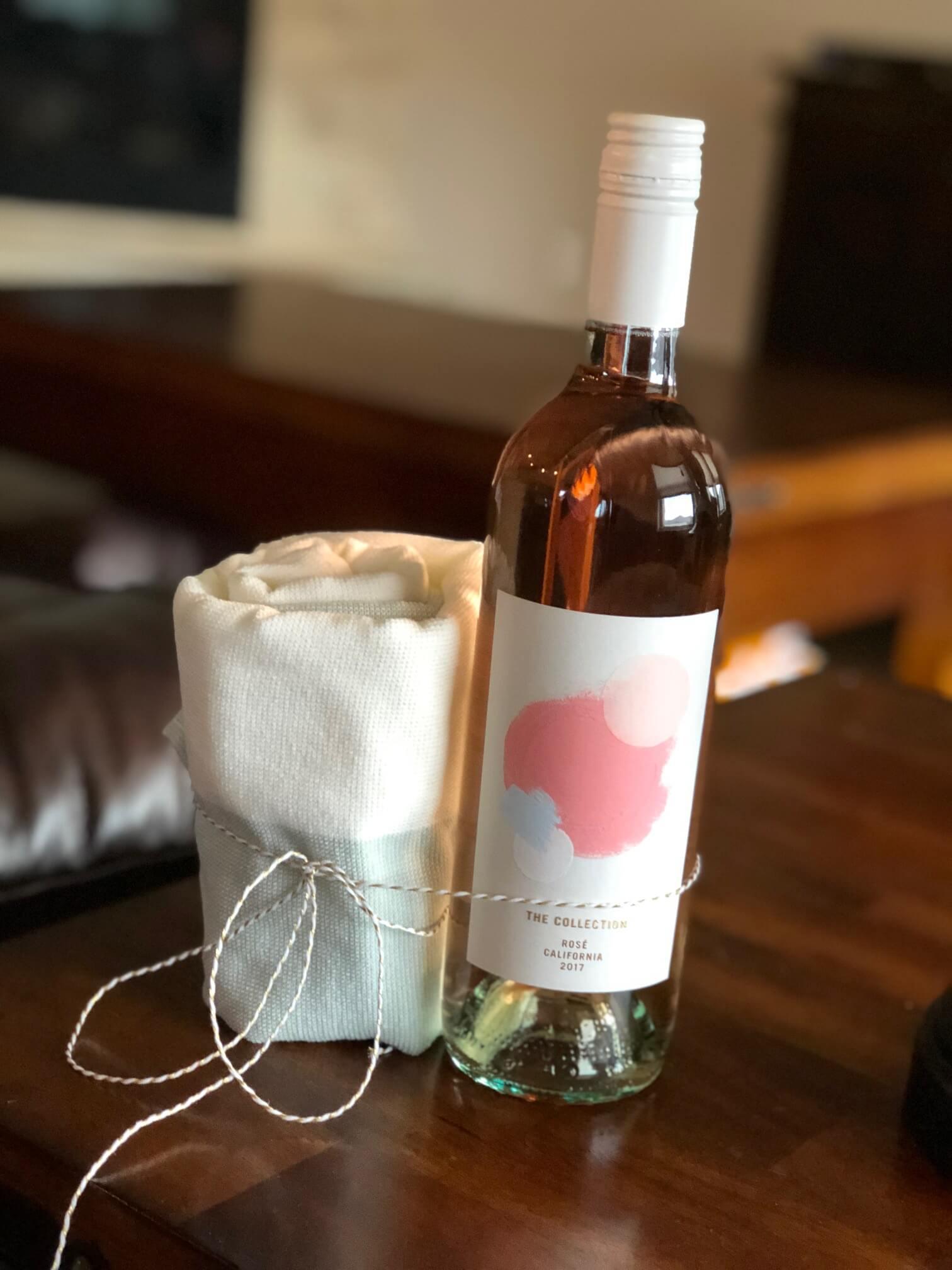 Wine & Dish Towel Prize Idea