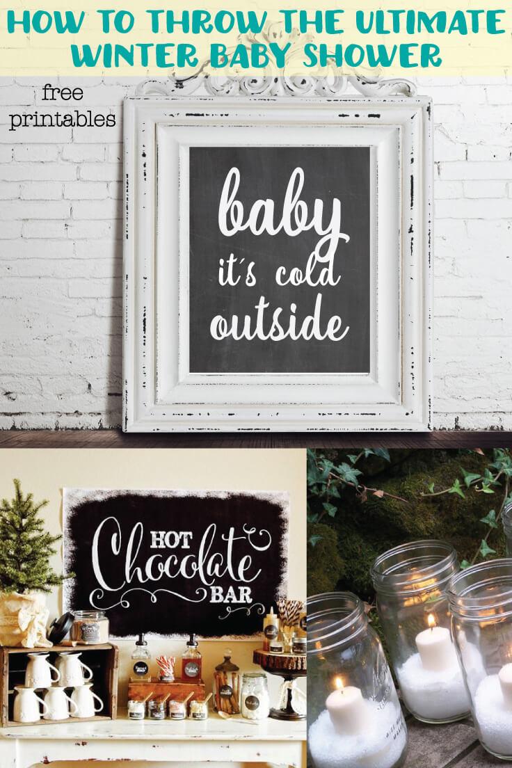Winter & Christmas Baby Shower Ideas Banner