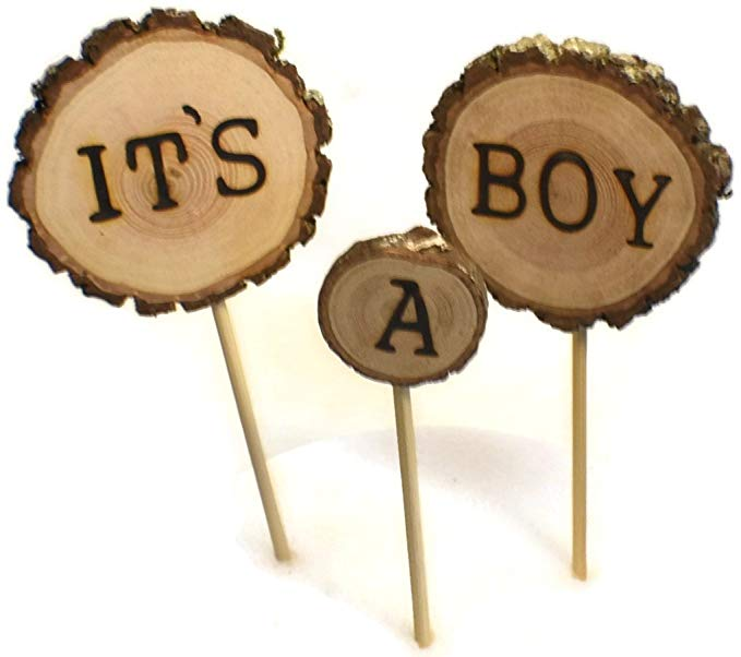 Easy Woodland Baby shower Cake Toppers - It's A Boy
