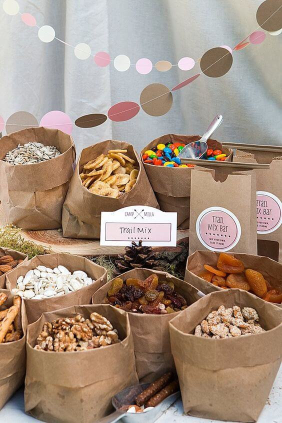 image of Woodland Baby Shower Snack Idea