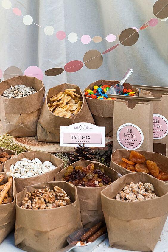 image of Woodland Baby Shower Snack Idea