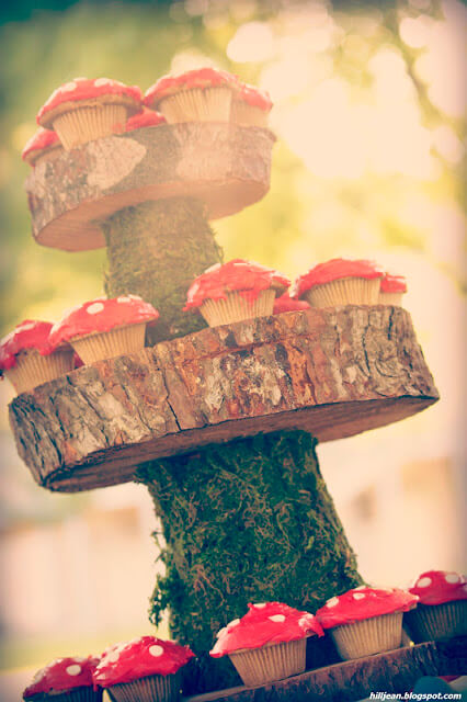 woodland baby shower cupcakes picture