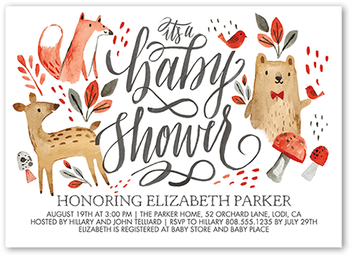 photograph regarding Free Printable Woodland Baby Shower Invitations identified as 25+ Woodland Child Shower Topic Options (Decorations, Video games