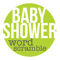 baby shower games word scramble