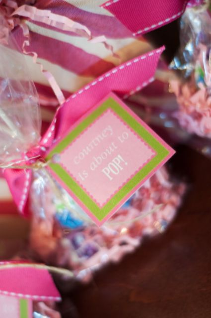 about to pop baby shower favors picture