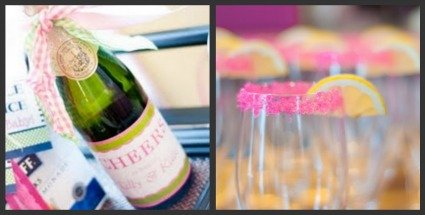 image of pink girl baby shower champagne idea