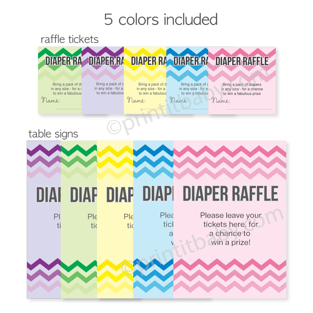 diapers and wipes baby shower verses diaper raffle tickets too