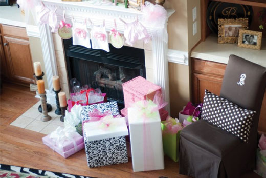 cute pink baby shower image
