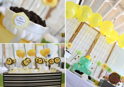 image of baby shower bumble bee theme ideas