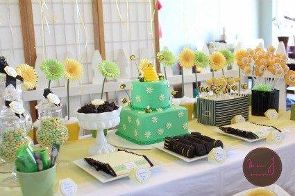 image of stylish bee baby shower display
